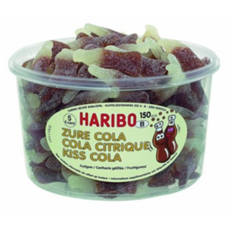 TUBE COLA CITRIC Kiss Cola HARIBO x150