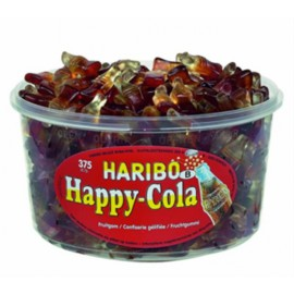 Haribo HAPPY COLA 3GR   Tubo 375p