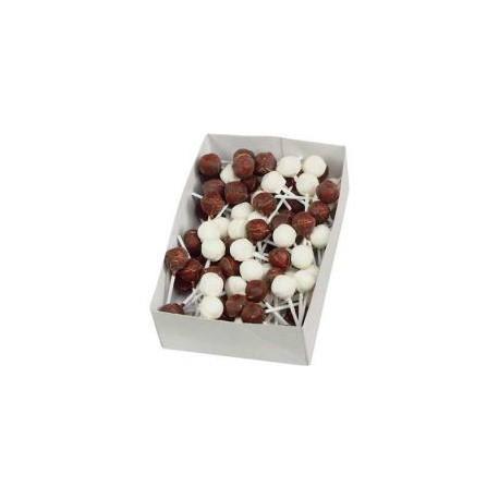 Sucettes Nougat Chocolat x120
