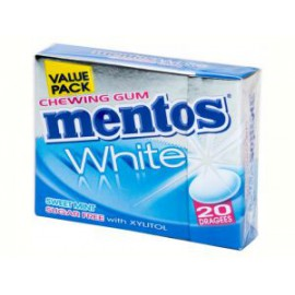 Mentos GUM White Sweet Mint FliptopBox 20 dragées