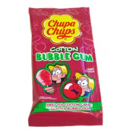 ChupaChups Cotton Bubble gum Cherry x1