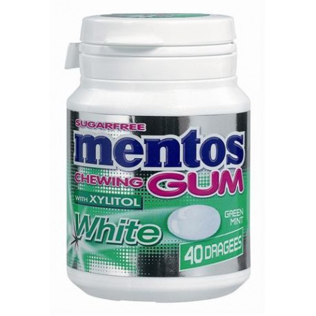 Bottle MENTOS GUM White GREENMINT 40p