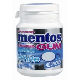 Bottle MENTOS GUM WHITE Sweet Mint 40p x6