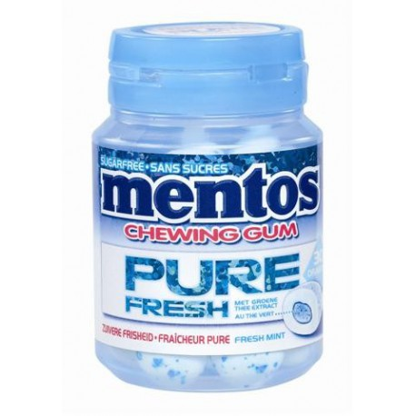 Bottle MENTOS GUM PURE FRESH Mint 30p x6
